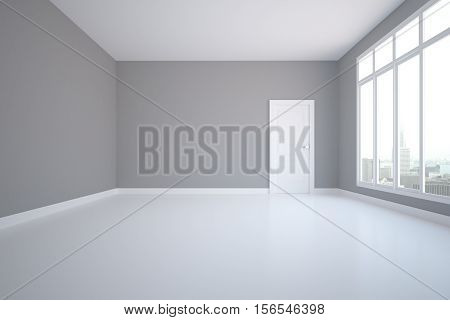 Unfurnished Grey Interior Front