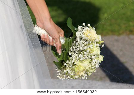 Wedding / the bride's bouquet .Wedding / Beautiful bridal bouquet