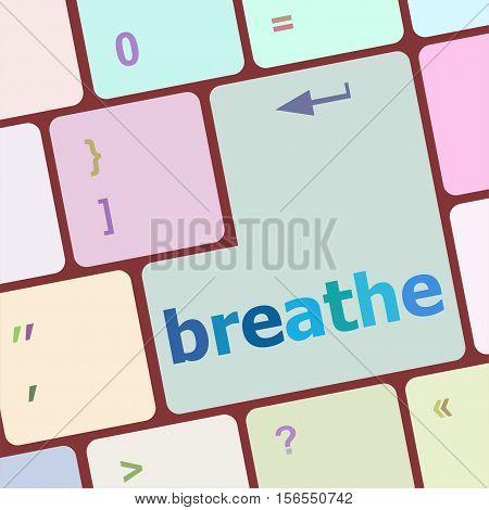 breathe word on enter computer keyboard key