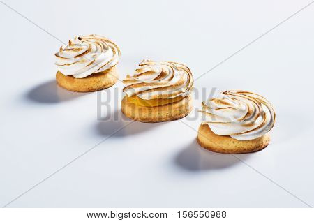 Round Shortbread With Cream On Top
