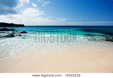 Beautiful Beach on Ascension Island in the Atlantic Ocean