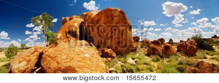 The Devils Marbles in central Australia