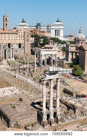 the Forum Romanum in the old Town in Rome