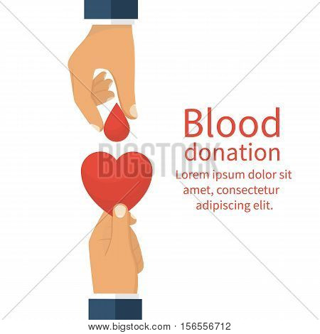 Blood Donation Concept.