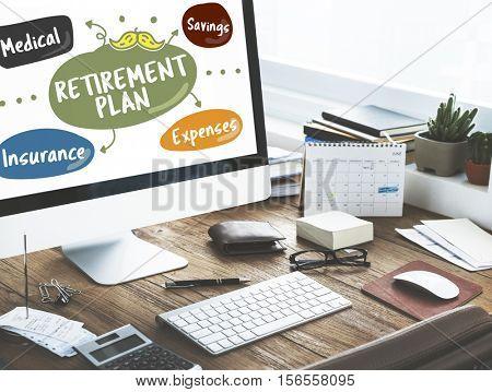 Senior Investment Pension Retirement Plan Savings Concept