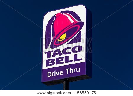 Taco Bell Restaurant Sign And Logo