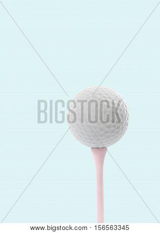 Still Life of a Golf Ball on Pink Golf Tee