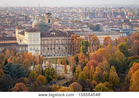 Turin (Torino) Royal Palace and Royal Gardens in autumn