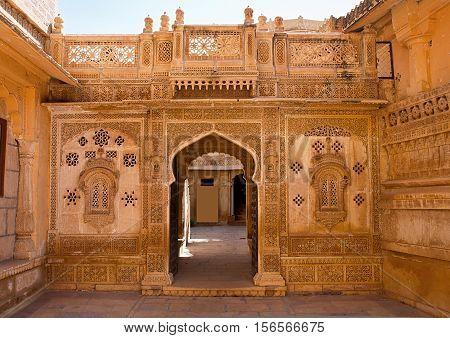 Beautiful Mandir Palace in Jaisalmer Rajasthan India.