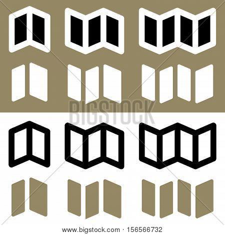 Set Of Brochure, Flyer Symbols For Prepress, Dtp, Offline Advertising Concepts