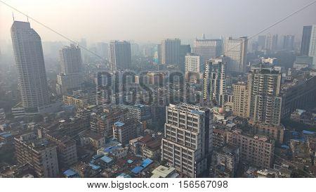 Urban skyline in modern Guangzhou Guangdong China