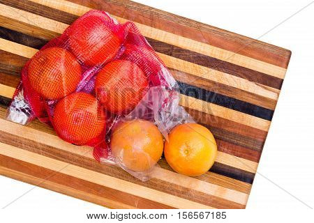 Bag Of Fresh Whole Ruby Grapefruit