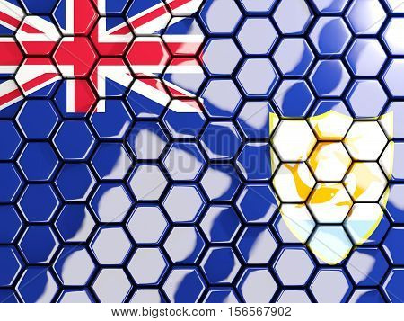Flag Of Anguilla, Hexagon Mosaic Background