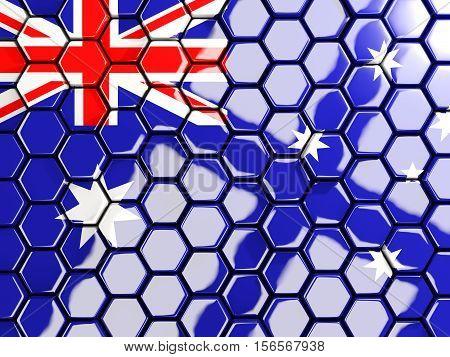 Flag Of Australia, Hexagon Mosaic Background
