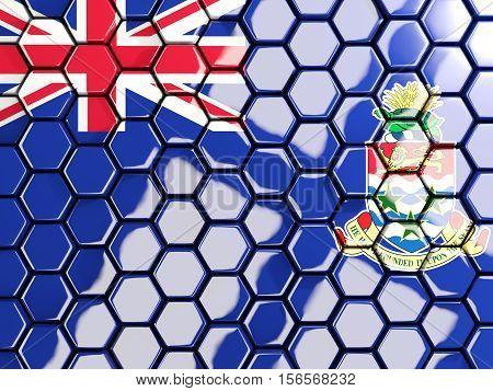 Flag Of Cayman Islands, Hexagon Mosaic Background