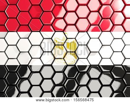 Flag Of Egypt, Hexagon Mosaic Background