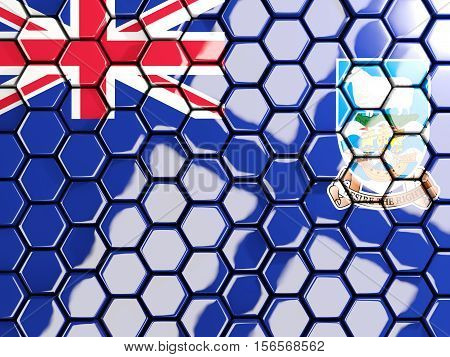 Flag Of Falkland Islands, Hexagon Mosaic Background