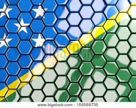 Flag Of Solomon Islands, Hexagon Mosaic Background