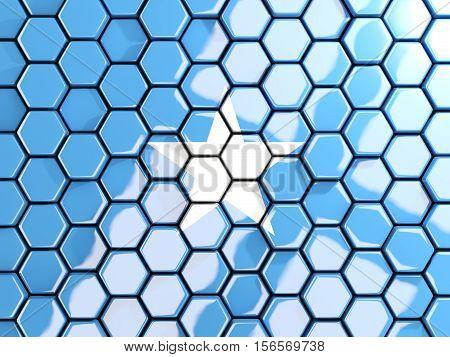 Flag Of Somalia, Hexagon Mosaic Background