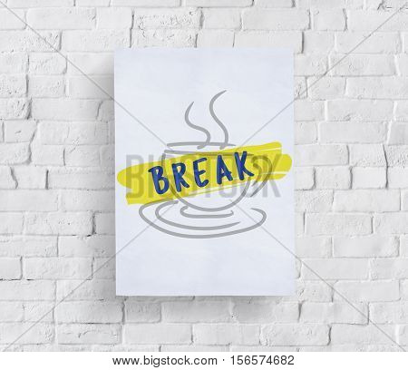 Coffee Break Relaxation Cessation Relief Concept