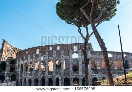 the Forum Romanum in the old Town of Rome