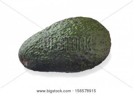 Close-up image of Avocado studio isolated on white background