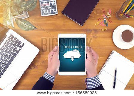 The Cloud  Backup Download   Computing Digital Data Transferring , Streaming Download