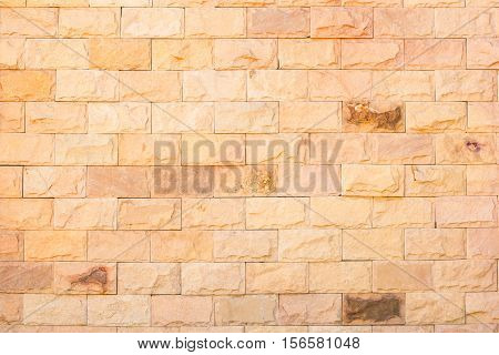 Background of brown brick wall pattern texture.