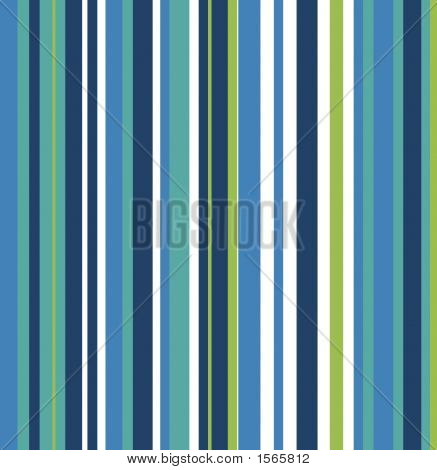 Retro Striped Background With Blues And Greens