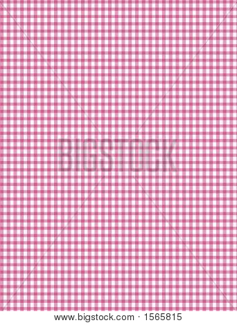 Pink And White Plaid Background, Background Illustration
