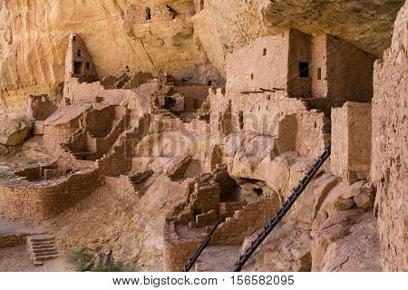 Ruins in Mesa Verde National Park, Colorado, USA
