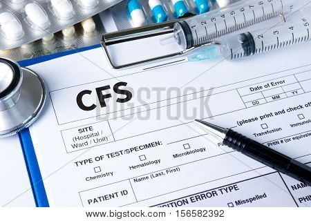 Cfs  (consolidated Financial Statement) Medical Concept: Cfs - Chronic Fatigue Syndrome