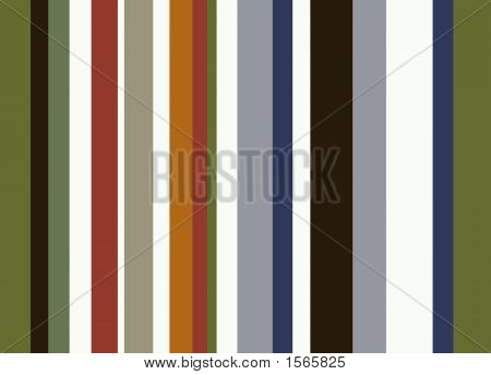 Retro Striped Background With Browns And Greens