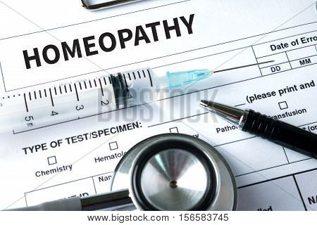 Homeopathy  - A Homeopathy Concept With Homeopathic Medicine  Homeopathy