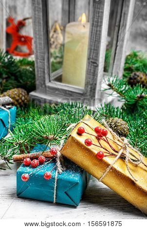 Boxes With Christmas Gifts