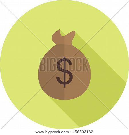 Money bag, currency, sack icon vector image. Can also be used for wild west. Suitable for web apps, mobile apps and print media.