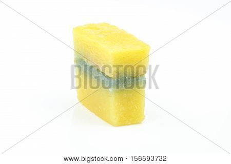 Kuih pulut traditional Malay nyonya sweet desert on white background