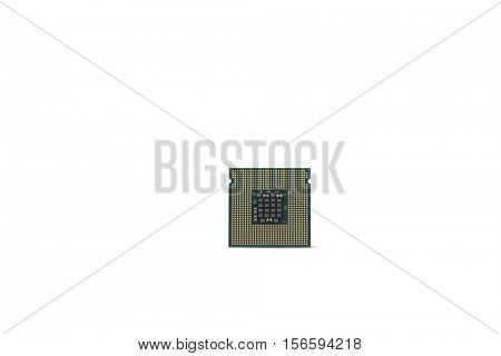 Processor isolated against white background