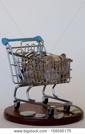 A trolley load of Australian gold and silver coins.