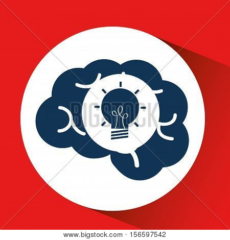 social media concept, head and brain media creativity vector illustration eps 10