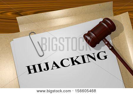 Hijacking - Criminal Concept