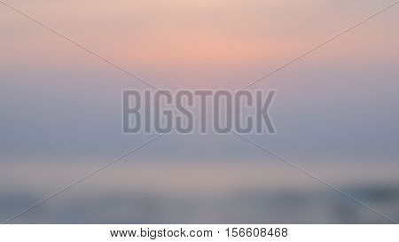 Blurred Sunset Background.