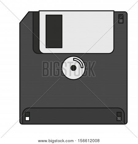 Diskette icon. Device gadget technology theme. Isolated design. Vector illustration