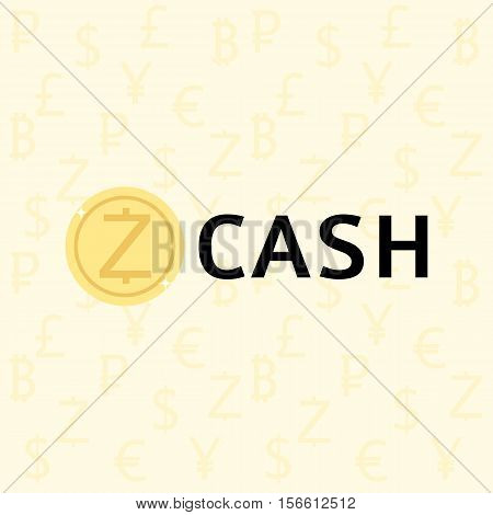 Zcash Cryptocurrency Concept