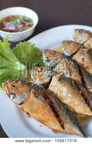 Thai Mackerel can be serve in many dishes. Taste of Mackerel is very delicious, a bit salty and flavorful serves with sweet fish sauce and herbs.