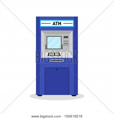 ATM Payment Terminal Auto Teller Machine. Flat Design Style Vector illustration