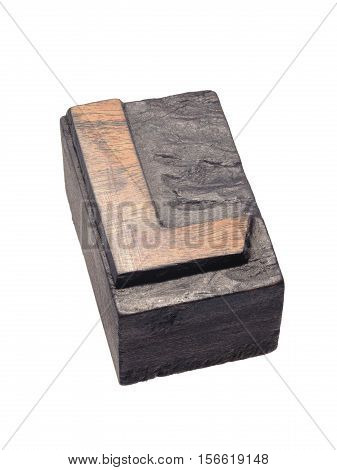 Wooden Letterpress L Block