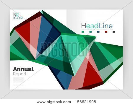 Business abstract geometric financial report brochure template.