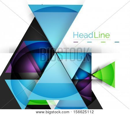 Triangle abstract background. Colorful modern composiition