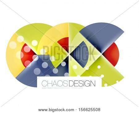 Round shapes, circle banner with sample text